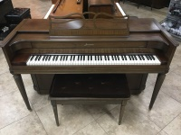 Baldwin Mahogany Spinet Piano with Matching Bench, USED