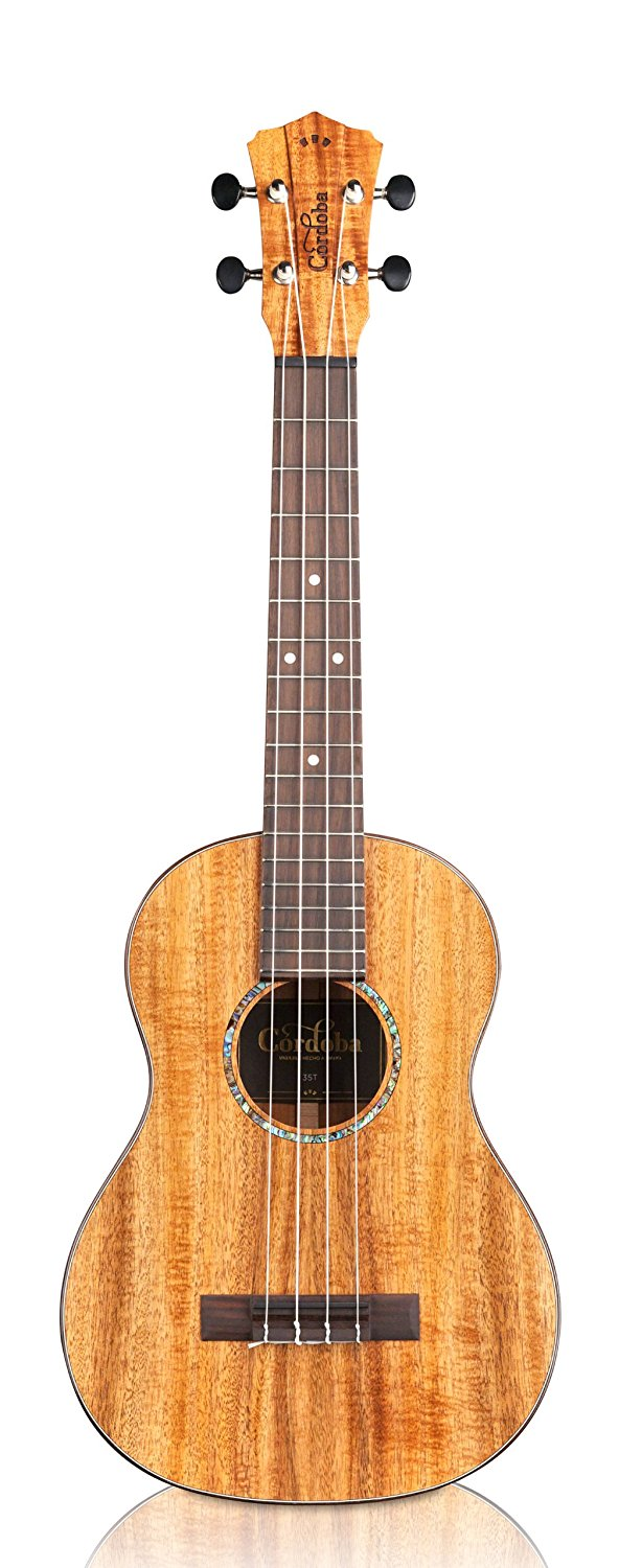 Cordoba 35T Tenor Ukulele with Case, Acacia
