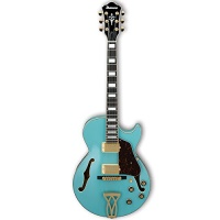 Ibanez Artcore Hollow Body AG75GMTB Electric Guitar, Mint Blue