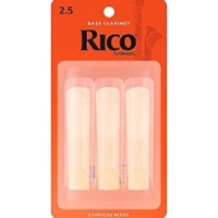 Rico Bass Clarinet Reeds, 3-Pack