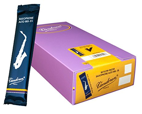 Vandoren Traditional Eb Alto Saxophone Reeds, Single Reed
