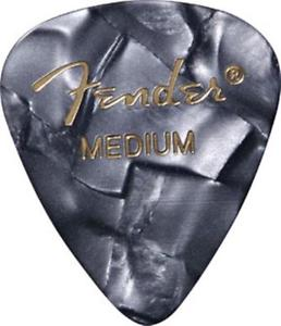Fender 351 Shape Guitar Picks 12-Pack Medium Black Moto